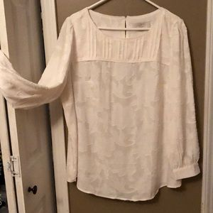 Ivory dressy blouse by Loft